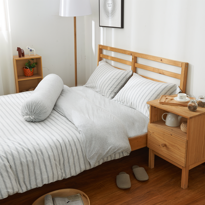(Queen) Cotton Pure 6-pc Bedding Set - Menatee Grey - Image 2