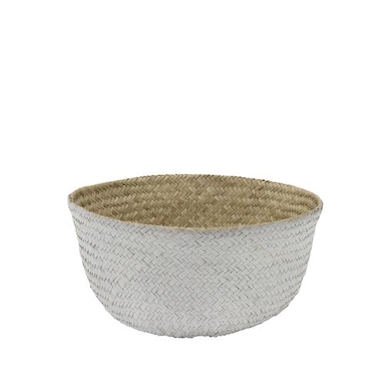 Stitches and Tweed - Serano Basket - White