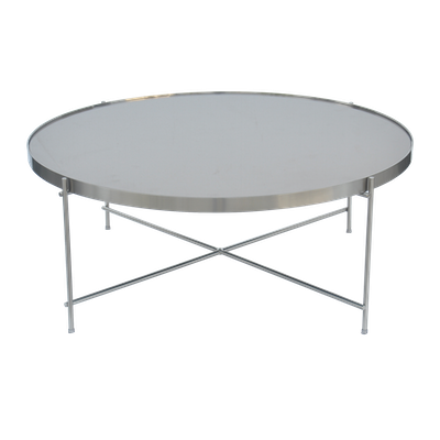 Chloe Round Coffee Table - Nickel - Image 2