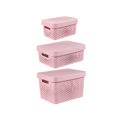 Infinity Box Dots + Lid - Pink - Image 2