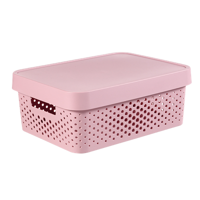 Infinity Box Dots + Lid - Pink - Image 1