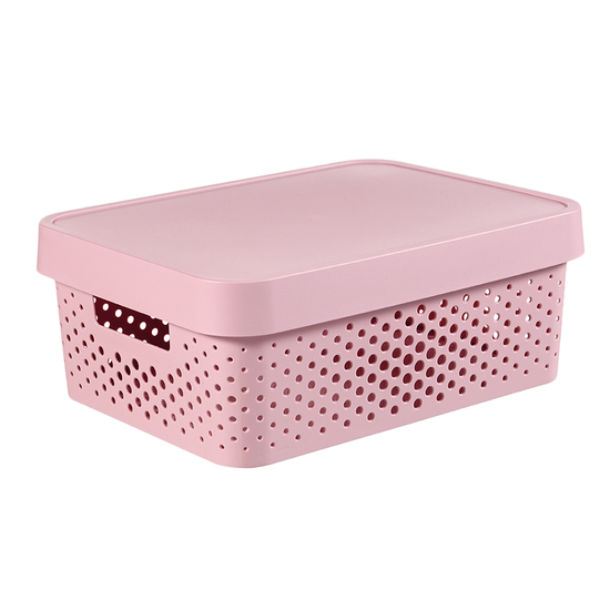 Curver - Infinity Box Dots + Lid - Pink
