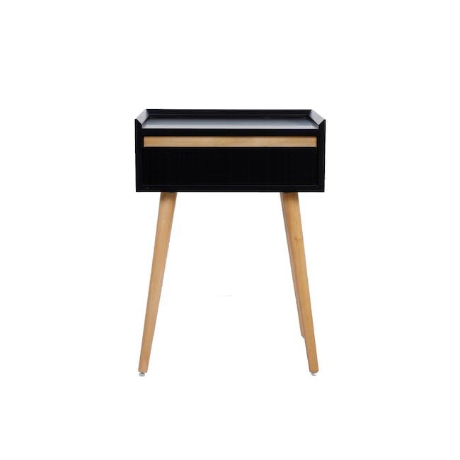 Dalton Bedside Table - Oak, Black - 2