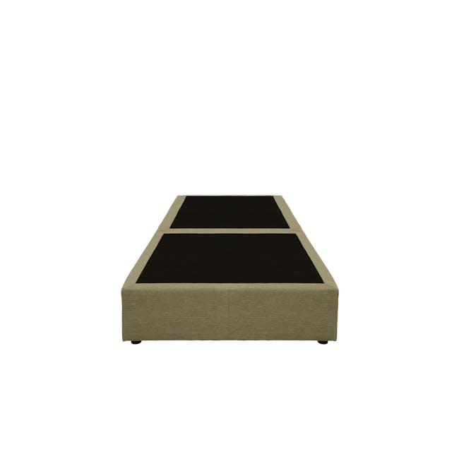 ESSENTIALS Single Box Bed - Khaki (Fabric) - 1