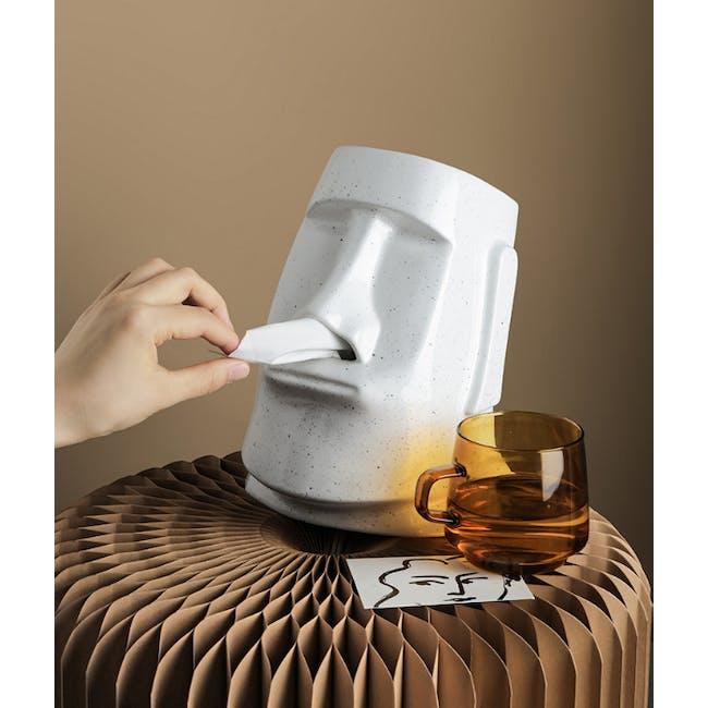 Moai Head Tissue Holder - White - 3