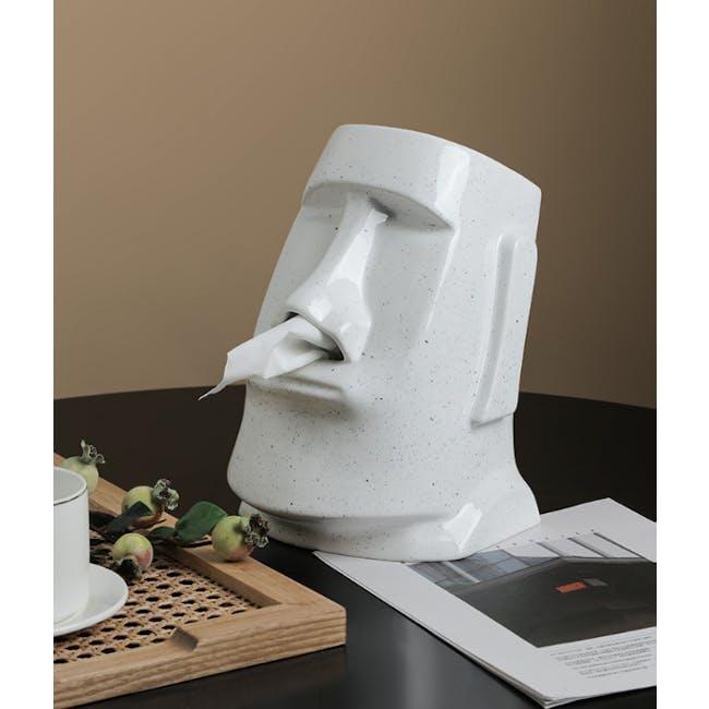 Moai Head Tissue Holder - White - 1