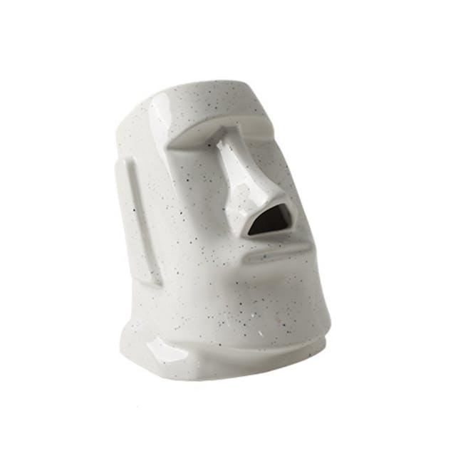 Moai Head Tissue Holder - White - 0