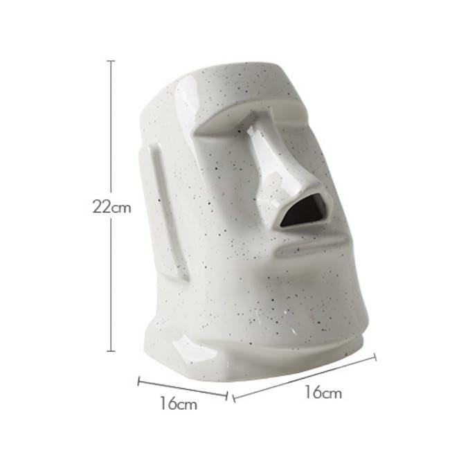 Moai Head Tissue Holder - White - 7