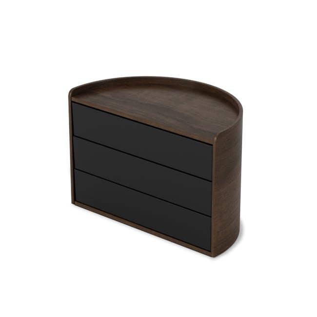 Moona Rotating Storage Box - Black, Walnut - 2