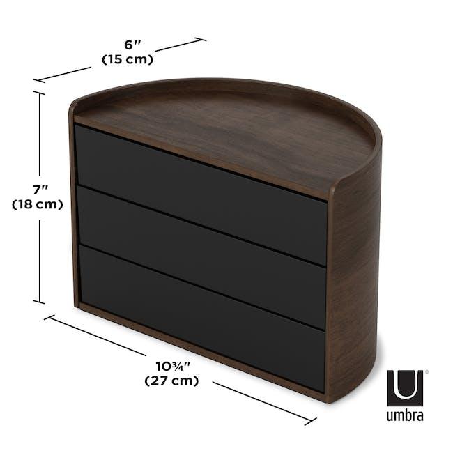 Moona Rotating Storage Box - Black, Walnut - 9