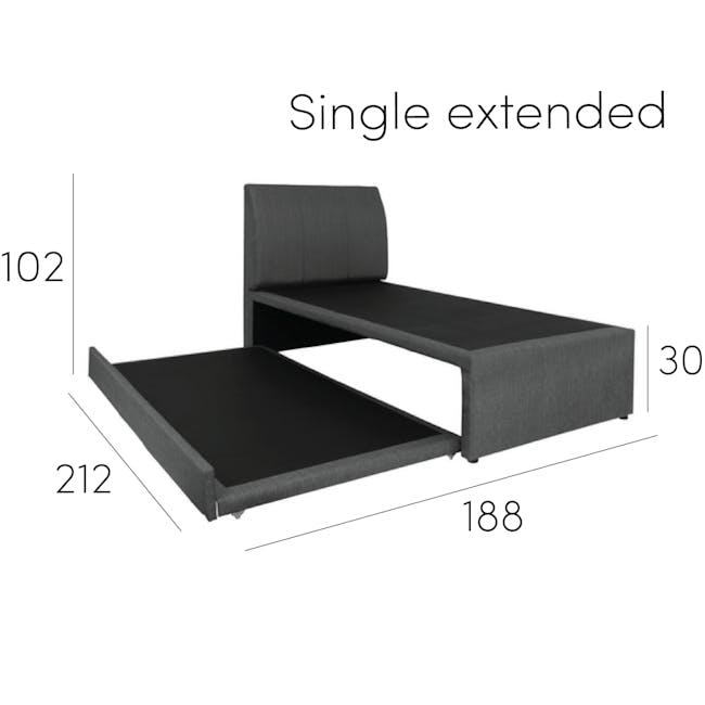 ESSENTIALS Super Single Trundle Bed - Khaki (Fabric) - 14