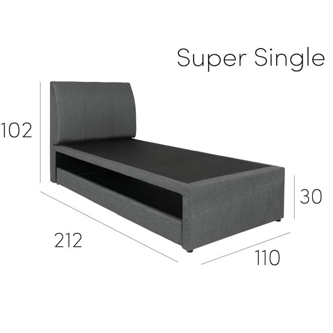 ESSENTIALS Super Single Trundle Bed - Khaki (Fabric) - 16
