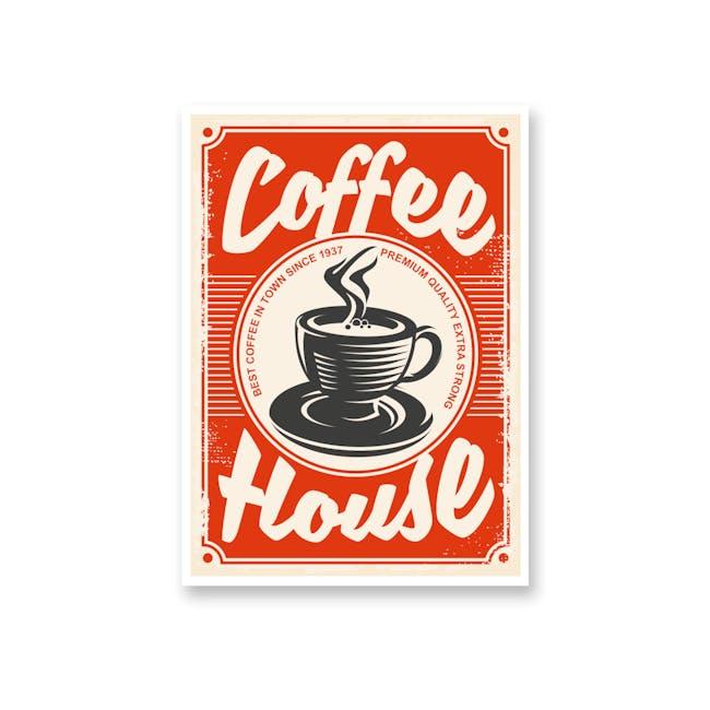 Borderless Graphic Art Print on Paper (2 Sizes) - Coffee House - 0