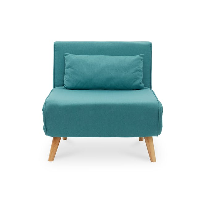 Noel 2 Seater Sofa Bed with Noel Sofa Bed - Teal - 9