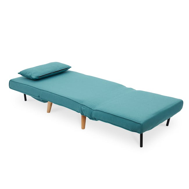 Noel 2 Seater Sofa Bed with Noel Sofa Bed - Teal - 11