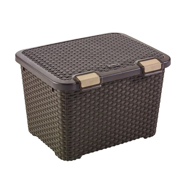 Style Box with Lid 43L - Dark Brown - 0