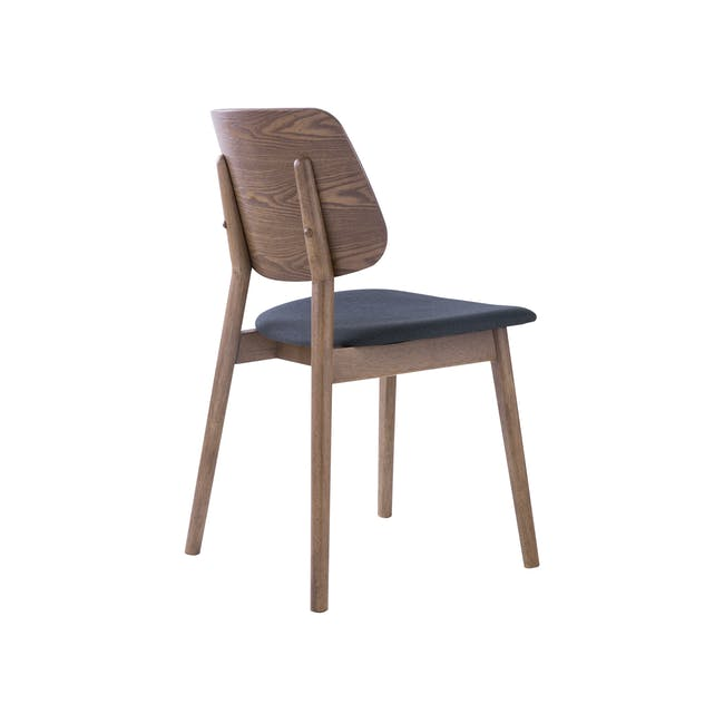 Roden Dining Table 1.8m in Cocoa and 4 Riley Dining Chairs in Dark Grey - 8