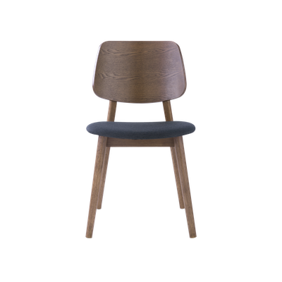 Riley Dining Chair - Walnut, Dark Grey - Image 2