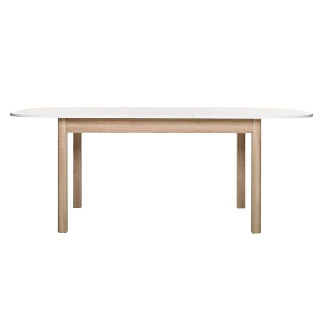 Irma Extendable Table 1.6m - White, Oak - 5