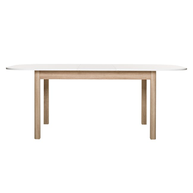 Irma Extendable Table 1.6m with 4 Chloe Dining Chairs in Wheat Beige and Pale Grey - 6
