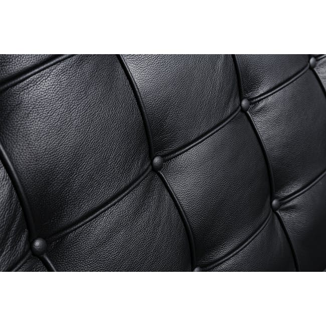 Barcelona Chair with Barcelona Ottoman - Black (Genuine Cowhide) - 23