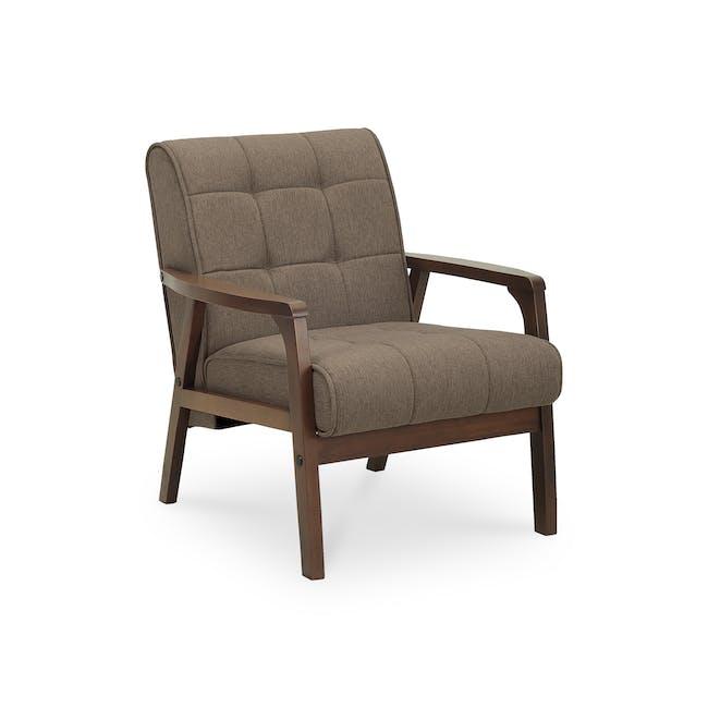 Tucson 2 Seater Sofa with Tucson Armchair - Chestnut (Fabric) - 9