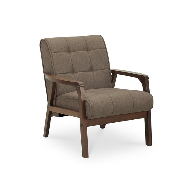 Tucson 3 Seater Sofa with Tucson Armchair - Chestnut (Fabric) - 8