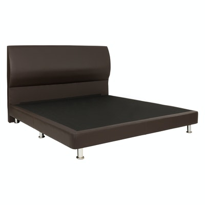 Sally Headboard Bed - Brown (Faux Leather)