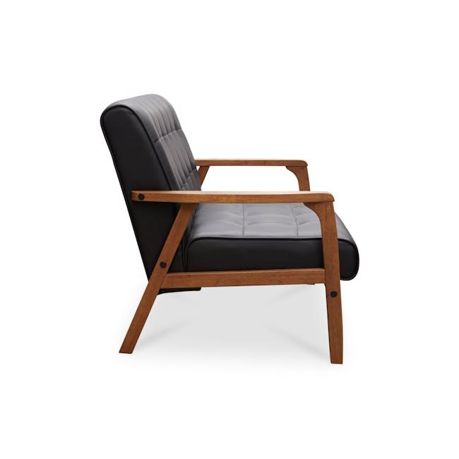 Tucson 2 Seater Sofa - Cocoa, Espresso (Faux Leather) - 4