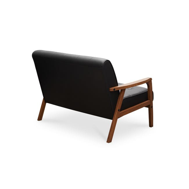 Tucson 2 Seater Sofa - Cocoa, Espresso (Faux Leather) - 3