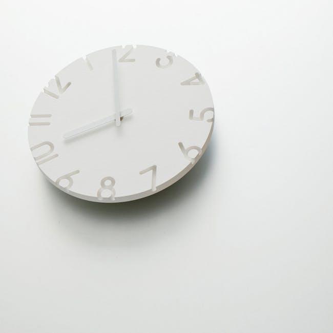 Carved Clock - Roman - 2 Sizes - 1