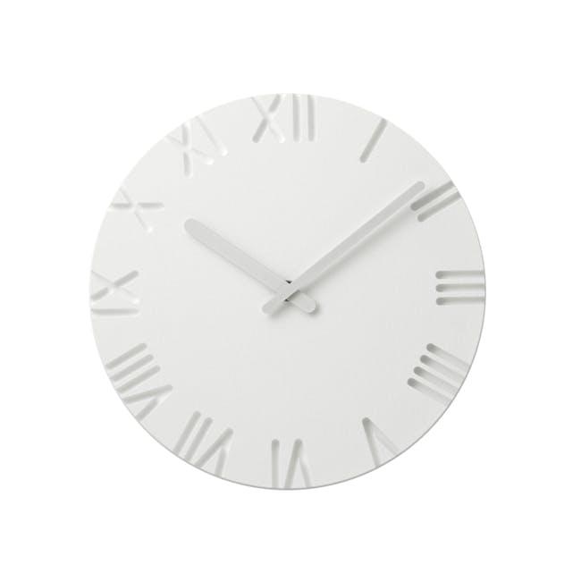 Carved Clock - Roman - 2 Sizes - 0