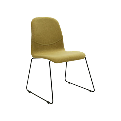 (As-is) Ava Dining Chair - Matt Black, Oasis - 1 - Image 1