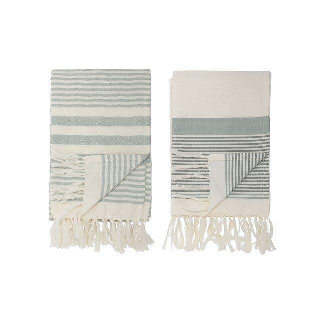 Linda Towels - White Stripes (Set of 2) - 0