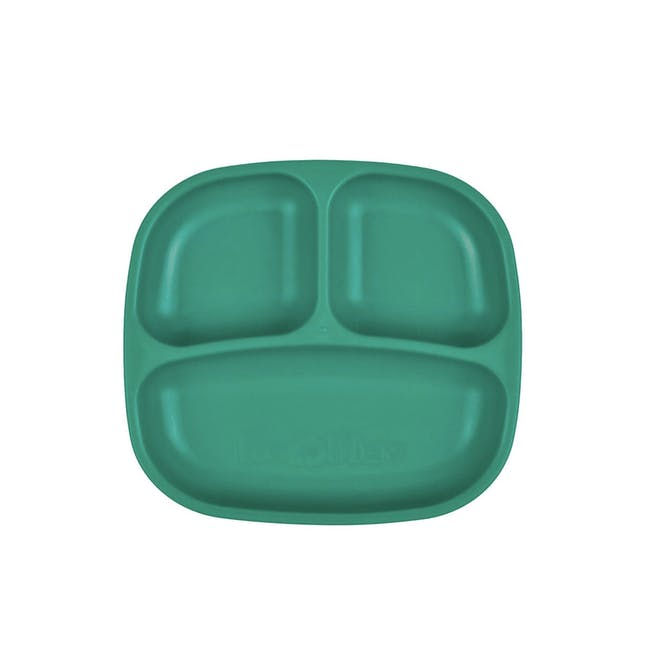 """Re-Play 7"""" Divided Plate - Teal - 0"""