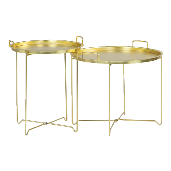 Helga - Xandy Side Table - Gold