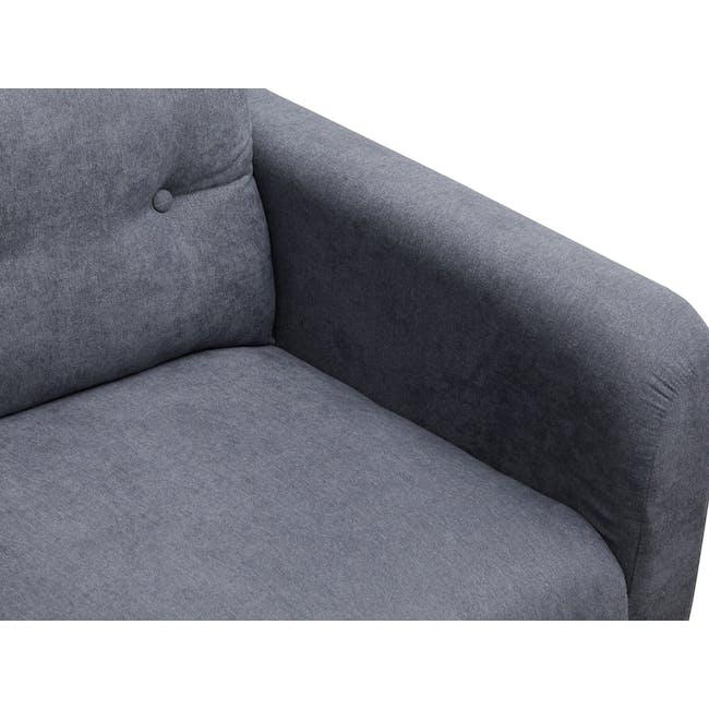Bennett 2 Seater Sofa with Bennett Armchair - Midnight - 9