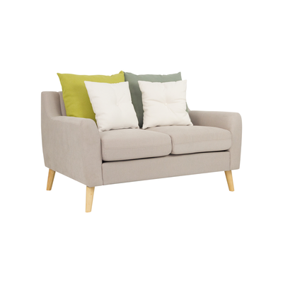 Evan 2 Seater Sofa w/ Cushions - Sand
