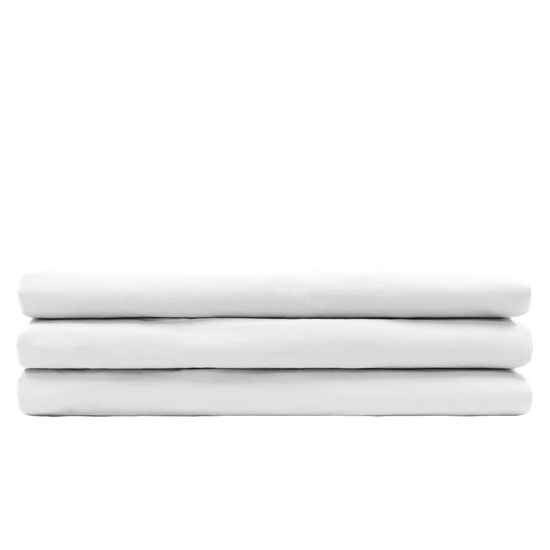 OEM Beddings - (King) Aurora Fitted Bed Sheet - White