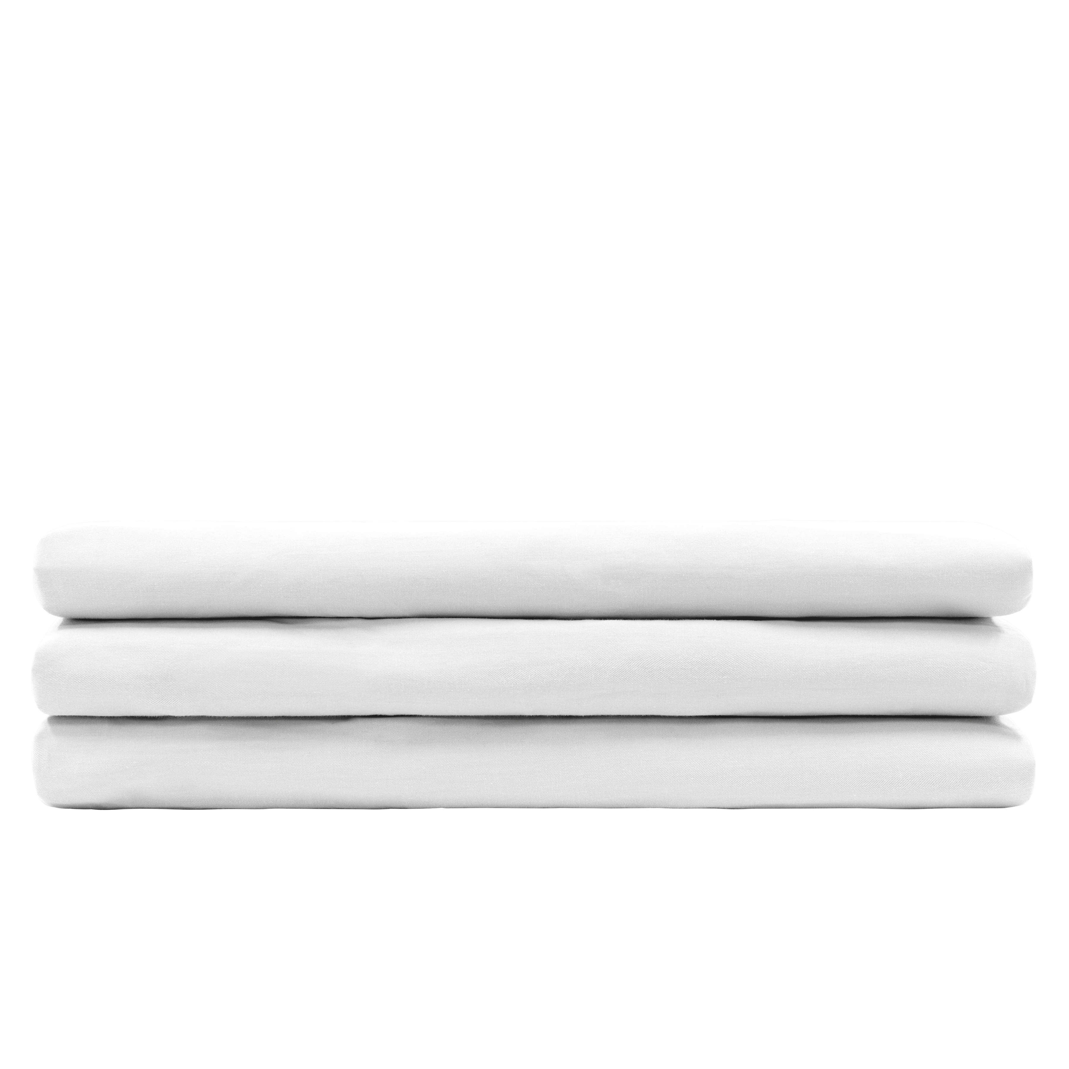 (King) Aurora Fitted Bed Sheet   White