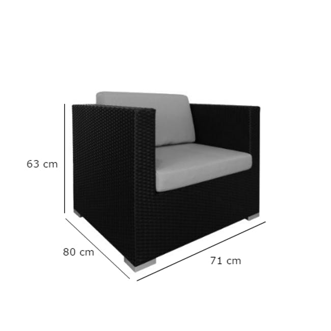 Summer Modular Outdoor Sofa Set - Creamy White Cushions - 7