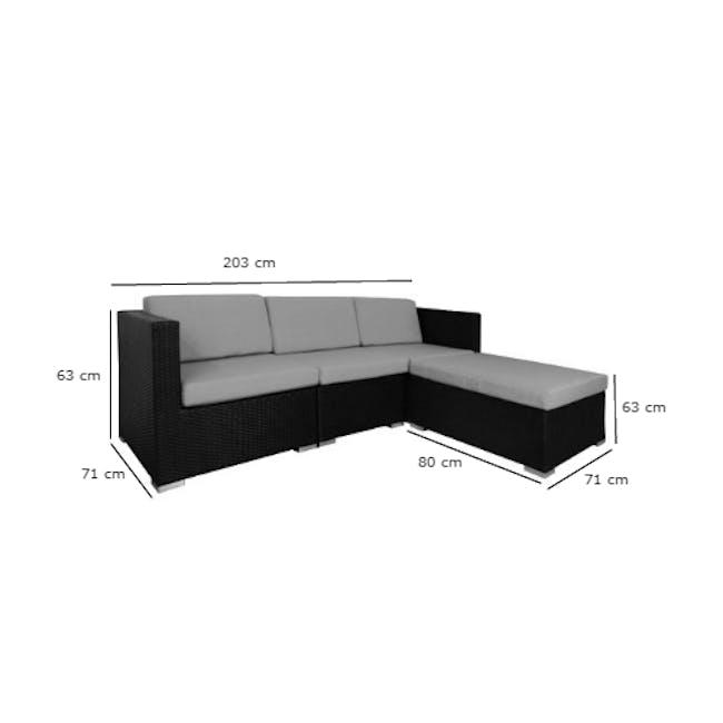 Summer Modular Outdoor Sofa Set - Creamy White Cushions - 6
