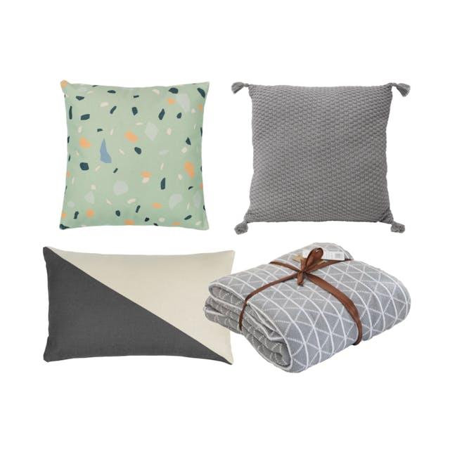 Cushion and Throw Bundle - Classic Terrazo (Set of 4) - 0