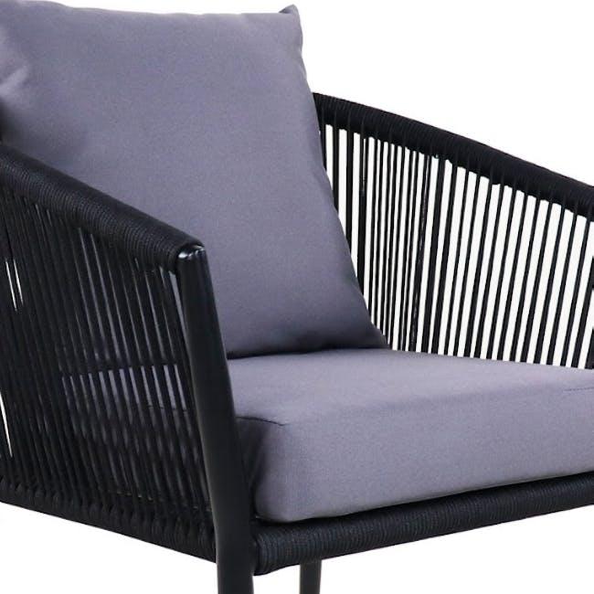 Kyoto Loveseat & 1 Armchair Set - Grey Cushion - 1