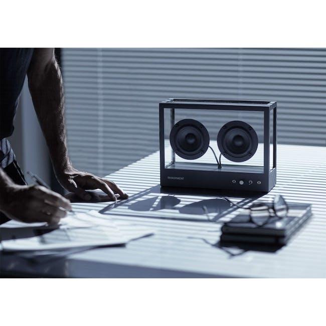 Small Transparent Speaker - Black - 1