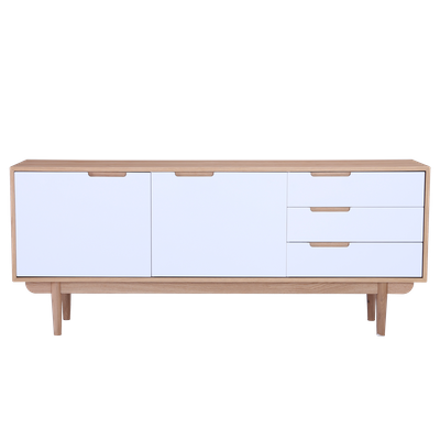 Larisa Sideboard 1.8m - Oak, White - Image 2
