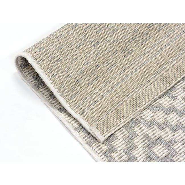 Essenza Flatwoven Rug 2.3m x 1.6m - Silver Nordic Lozenge - 2