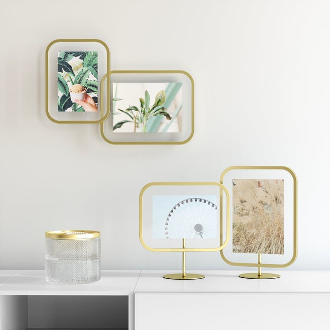 Infinity Rectangle Photo Display - Small - Brass - 6