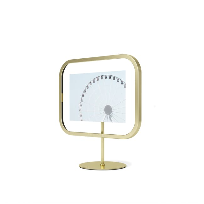 Infinity Rectangle Photo Display - Small - Brass - 3
