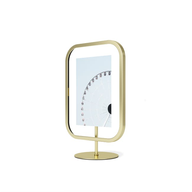 Infinity Rectangle Photo Display - Small - Brass - 5